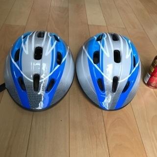 60、子供用自転車ヘルメット(青)2個