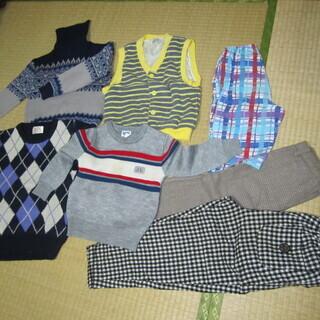 ☆彡 ⑩ 子供服 100~115サイズ 男子 7点 セーター、ズ...