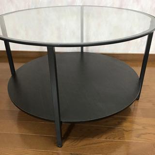 ガラス天板のセンターテーブル