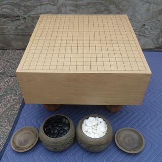 囲碁 碁盤と碁石セット 天然石、天然蛤