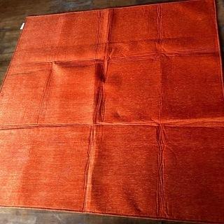 モデルノ オレンジ色 カーペット 185cm×185cm マット