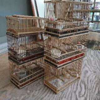 【取引売約済】メジロ、ウグイス飼育籠と仕掛け罠用籠