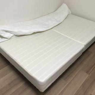 【取引中】セミダブル ベッド マットレス 脚付 - 名古屋市