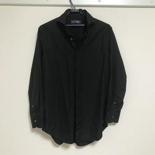 黒シャツ メーカーズシャツ鎌倉 カラーステイ付き