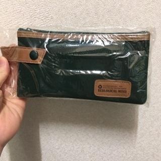 【新品】定価800円 ペットボトルから作ったペンケース グリーン