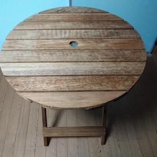 おしゃれなアウトドアテーブル(ガーデンテーブル)中古