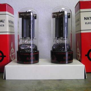 未使用品、長期保存のビンテージ真空管 6L6GC-2本