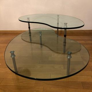 【引取り限定】ガラステーブル