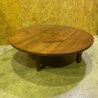 古風 円卓 座卓 丸テーブル