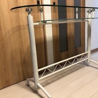 ガラス カウンターテーブル - 家具
