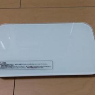 シンプル体重計 ホワイト ドリテック