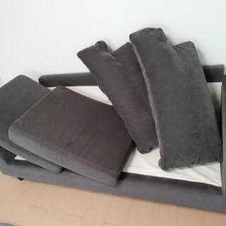 こげ茶色のソファ【受け取り予定者有り】 - 家具
