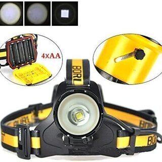 新品未使用 LED ヘッドライト 超軽量 高輝度  ズーム機能 ...
