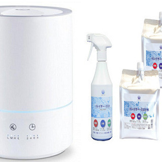 【新品】次亜塩素酸水対応の加湿器と次亜塩素酸水(9L)、500m...
