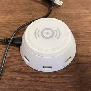取引中  Qiワイヤレス充電器 USBポート搭載