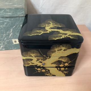 漆塗り お重箱 3段 松竹梅