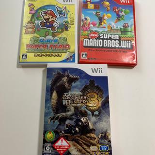Wii スーパーマリオブラザーズ、スーパーペーパーマリオ、モンハン3
