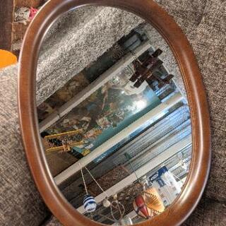 マルニ 木工 maruni  楕円形 鏡 壁掛け ウォールミラー...