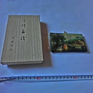 ★博多織木箱入りと★絵画がま口財布★2点(未使用、保管品)★PF...