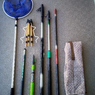 釣り竿・竿立て・タモ網