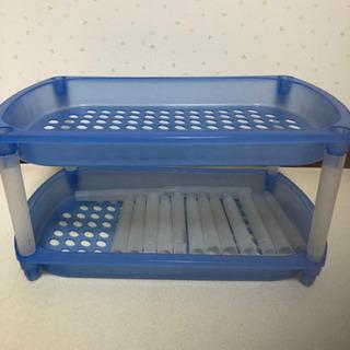 プラスチック棚 ブルー8段 ピンク9段