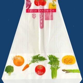 三角 サンドイッチ袋 野菜柄 70mm幅  1束(200枚フィル...