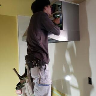 システムキッチン、家具の施工