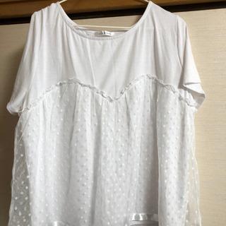 【至急!】白のTシャツの3L