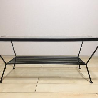 ウニコ(unico) ガラス テーブル