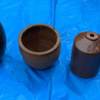 かめ、陶器、4個セット