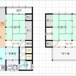 和歌山県御坊市御坊 戸建て2階☘️古家貸家格安🙂 DIYご自由に...
