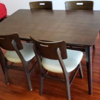 ※購入者決定済み  四人掛けテーブル&イスセット 中古美品!