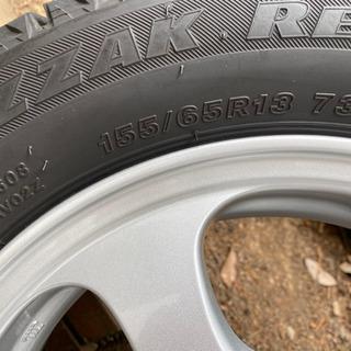 値下げしました‼️155/65R/13 ホンダ純正アルミホイール スタッドレスタイヤ - 車のパーツ