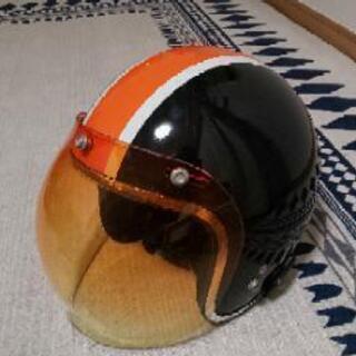 オートバイ用ジェットヘルメット Barton オレンジシールド付