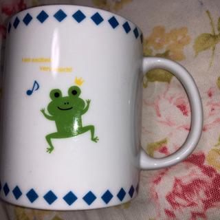 カエルさんのコップ(陶器)