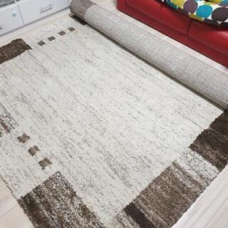 ウィルトン織りシャギーラグ カーペット マット ニトリ
