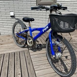 【あげます】自転車 子供用22インチ 青色