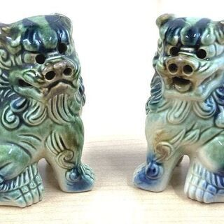 JM7046)阿吽 獅子/狛犬 1個セット 幅:約16.5cm ...