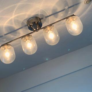 オシャレなグラスドーム シーリングライト 4灯