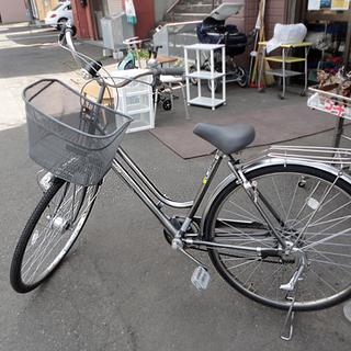 自転車 28インチ Emile 6段切替 ライト かご 荷台付 ...