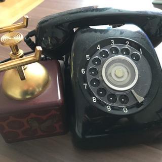 黒電話 受話器置き オルゴール 昭和レトロ