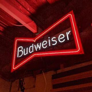 Budweiser バドワイザー ネオン管 ネオン 看板 ビルボ...