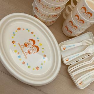 (今月まで)ちびまる子ちゃん プラスチックの食器