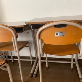 残り今週処分予定 残2セット 学校机椅子 高さ調節不可 イトーキ...