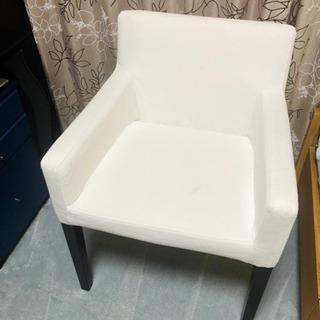 IKEA NILS チェア アームレスト付, ホワイト