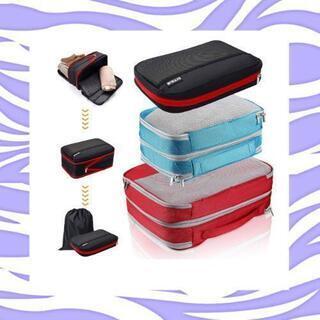 新品未使用 圧縮袋 衣類 あっしゅく袋 トラベルポーチ 旅行便利...