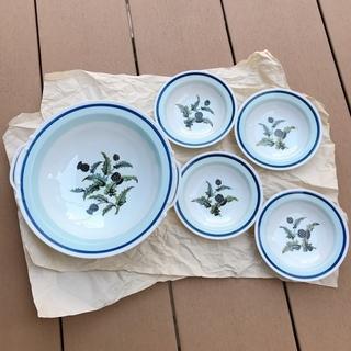 【ノリタケNORITAKE】昭和レトロ大鉢と小皿4枚セットです