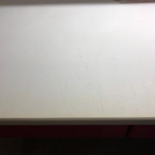 レッド&ホワイト 勉強机 - 家具