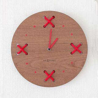 【NEXTIME】壁掛け時計 直径32cm 木製