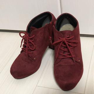 靴 ハイヒール セーム革 Msize 購入金額4900円